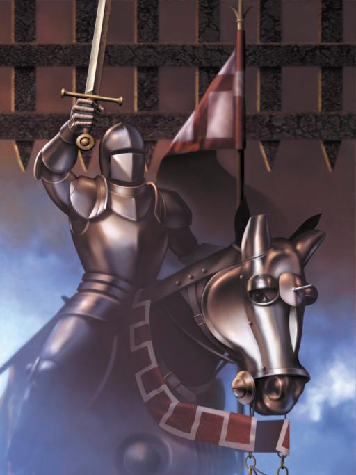 Horse in battle