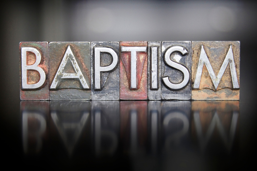 Baptism Letterpress